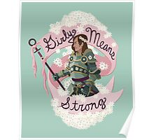 Girly Means Strong (Green Variant) Poster