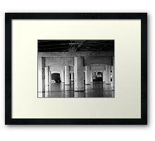 beneath the bridge Framed Print