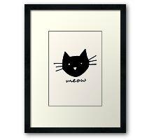 Meow. Framed Print