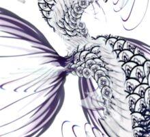 White Koi-Blue Lily  Sticker