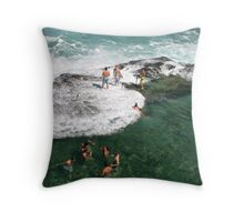 Social Scene at the Bogey Throw Pillow