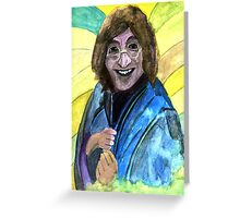 144 - JOHN LENNON IN THE SIXTIES - DAVE EDWARDS - WATERCOLOUR - 2005 Greeting Card