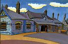 178 - OLD RAILWAY STATION, BLYTH (GOUACHE) by BLYTHART