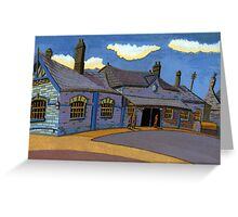 178 - OLD RAILWAY STATION, BLYTH (GOUACHE) Greeting Card