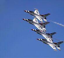 Townsville Air Show 2009 - USAF Thunderbirds #1 by Paul Gilbert