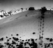 Mt Hotham Ski Resort - Keogh's Chairlift by Roger Barnes