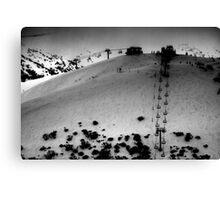 Mt Hotham Ski Resort - Keogh's Chairlift Canvas Print