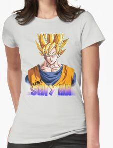 just saiyan transparent background Womens Fitted T-Shirt
