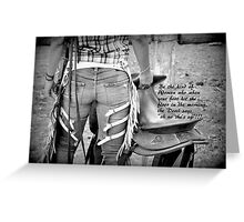 COWGIRL WITH ATTITUDE Greeting Card