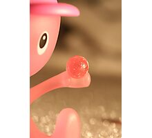 Alessi Pink egg cup character with a pink sweet Photographic Print