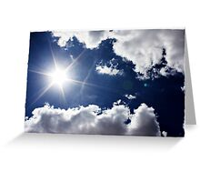 African Sky Blue Greeting Card