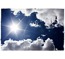 African Sky Blue Photographic Print