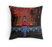 Neon and water Throw Pillow