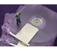 Mini Disc Mini Man Photographic Print