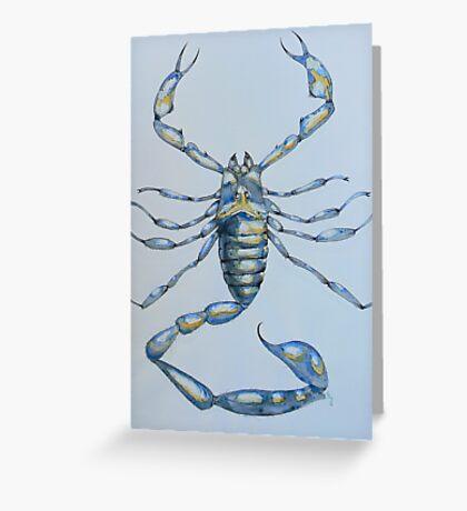 Scorpion Scorpio Arachnid Blue, 2006 Greeting Card