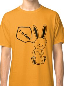 Cute Black and White Rabbit Classic T-Shirt