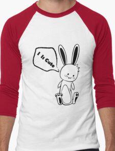 Cute Black and White Rabbit Men's Baseball ¾ T-Shirt