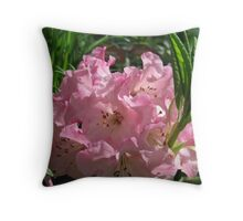 Pink Rhododendrum Throw Pillow