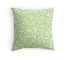 Tiny polka dots in pastel lime green. Throw Pillow