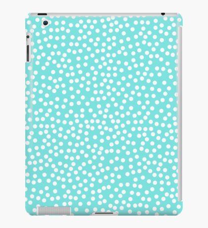 Tiny polka dots in pastel prettiest blue. iPad Case/Skin
