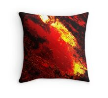 """Feuerliches Meer"" Throw Pillow"