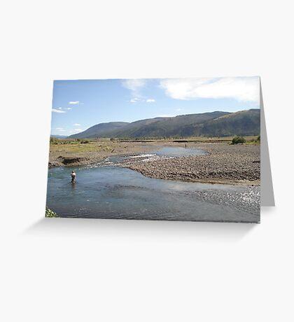 Fly Fisherman - Soda Butte Creek Greeting Card