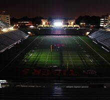 Princeton University Football Staduim at Night by Michael Bender