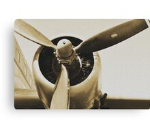 Plane from a Vintage Dream Canvas Print
