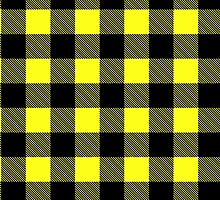 Buffalo plaid in yellow and black. by linepush