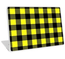Buffalo plaid in yellow and black. Laptop Skin