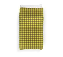 Buffalo plaid in brown and yellow. Duvet Cover