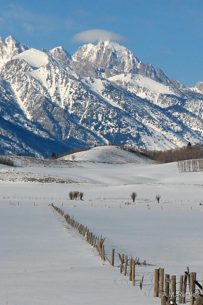 Grand Teton & Cap Cloud by A.M. Ruttle