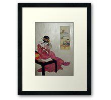 Geisha Reflections Framed Print