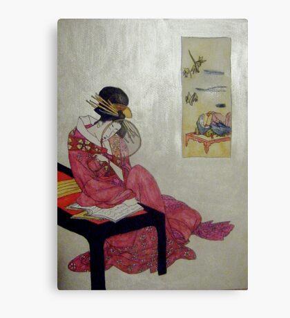 Geisha Reflections Canvas Print