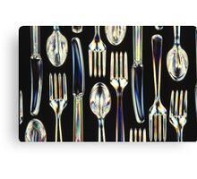 Fantastic Plastic: I am all Knives, Forks and Spoons Canvas Print