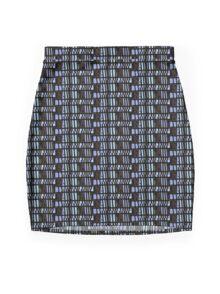 New skirt 1, MODern Plaid,  multi-blue Mini Skirt