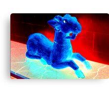 Blue Goat Box Canvas Print