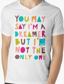 You May Say I'm A Dreamer - Colour Version Mens V-Neck T-Shirt
