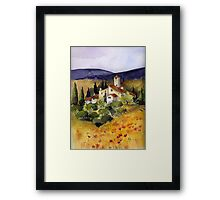 Evening in Tuscany Framed Print