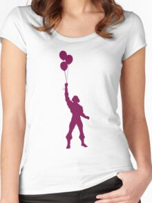 Heman at the Fun Park - Purple Women's Fitted Scoop T-Shirt