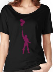 Heman at the Fun Park - Purple Women's Relaxed Fit T-Shirt