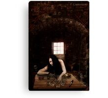 Gipsy of cemetery Canvas Print