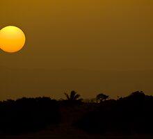 Setting Sun Through the Dust Storm - Cooktown - Queensland - Australia by Paul Davis
