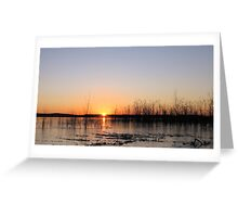 Sunrise Over An Icy Lake Greeting Card