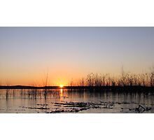 Sunrise Over An Icy Lake Photographic Print