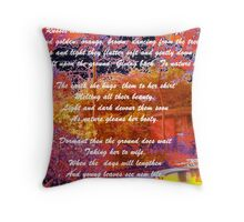 Russet Leaves Throw Pillow