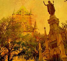 Chateau Frontenac, Quebec City   & Statue    by Rick  Todaro