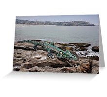 Crocodile @ Sculptures By The Sea, Sydney 2012 Greeting Card