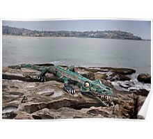 Crocodile @ Sculptures By The Sea, Sydney 2012 Poster