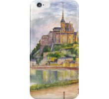 Mont Saint Michel Aquarelle iPhone Case/Skin